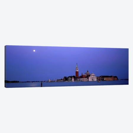 Moon over San Giorgio Maggiore Church Venice Italy Canvas Print #PIM3984} by Panoramic Images Canvas Art