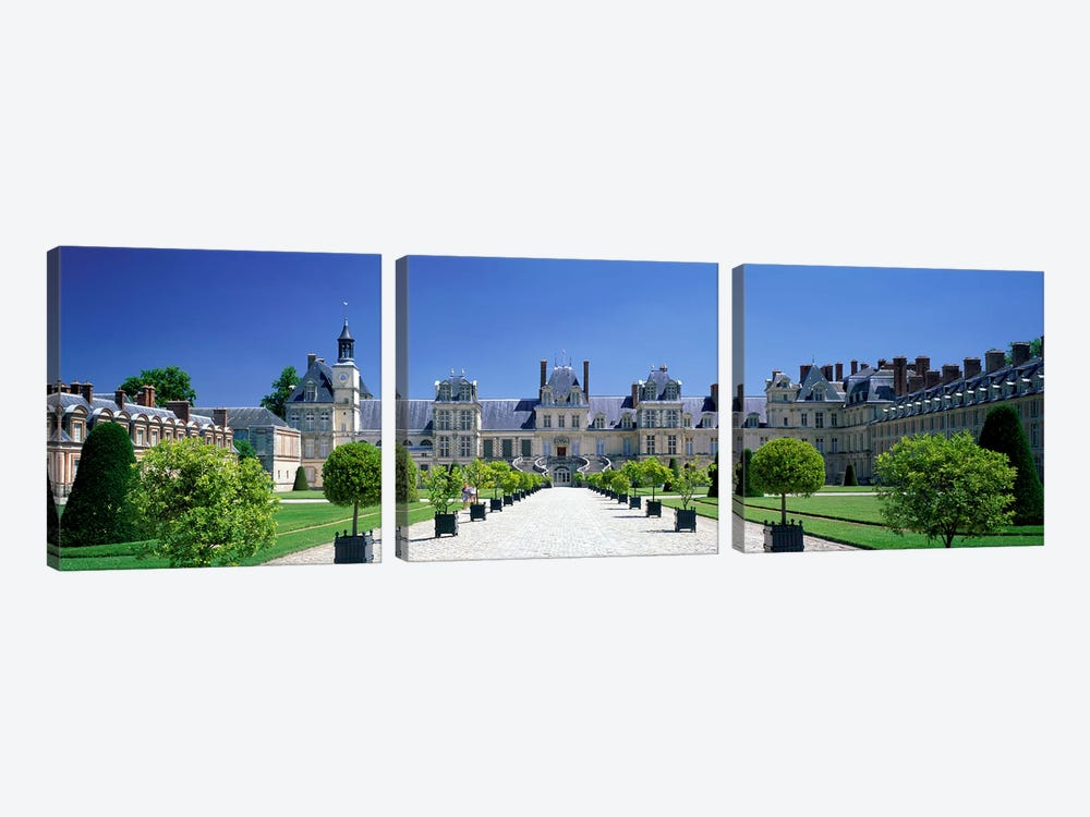 Chateau de Fontainebleau Ile de France France by Panoramic Images 3-piece Canvas Wall Art