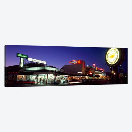 Tourists at a restaurant, Fisherman's Wharf, San Francisco, California, USA Canvas Print #PIM398} by Panoramic Images Canvas Art