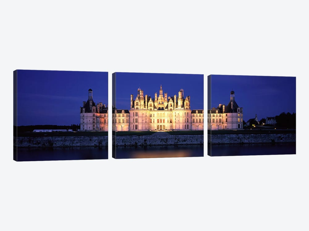 Chateau de Chambord Loire France 3-piece Canvas Artwork