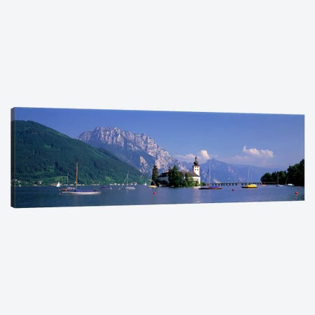 Traunsee Lake Gmunden Austria Canvas Print #PIM3993} by Panoramic Images Canvas Art