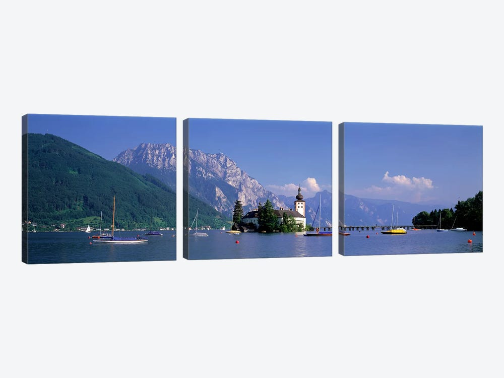 Traunsee Lake Gmunden Austria by Panoramic Images 3-piece Canvas Wall Art