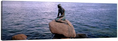 Little Mermaid Statue on Waterfront Copenhagen Denmark Canvas Art Print