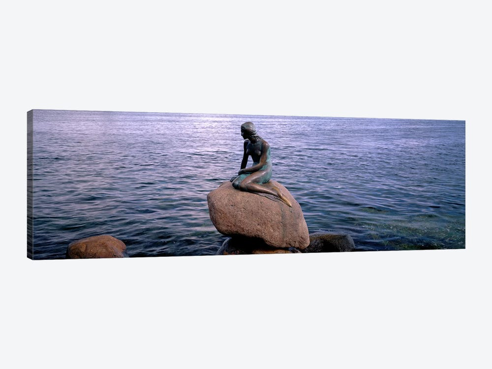 Little Mermaid Statue on Waterfront Copenhagen Denmark by Panoramic Images 1-piece Canvas Wall Art