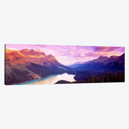 Peyto Lake, Alberta, Canada Canvas Print #PIM3} by Panoramic Images Canvas Wall Art