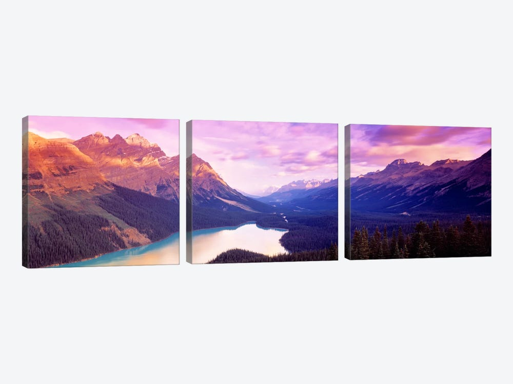 Peyto Lake, Alberta, Canada by Panoramic Images 3-piece Art Print