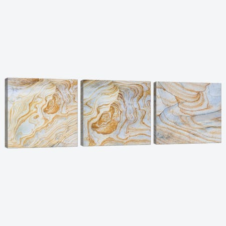 Sandstone Swirl Pattern Triptych Canvas Print Set #PIM3HSET002} by Panoramic Images Canvas Art Print
