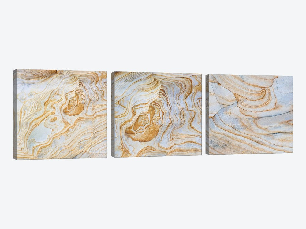Sandstone Swirl Pattern Triptych by Panoramic Images 3-piece Canvas Art Print