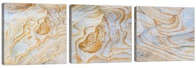Sandstone Swirl Pattern Triptych Canvas Art Print