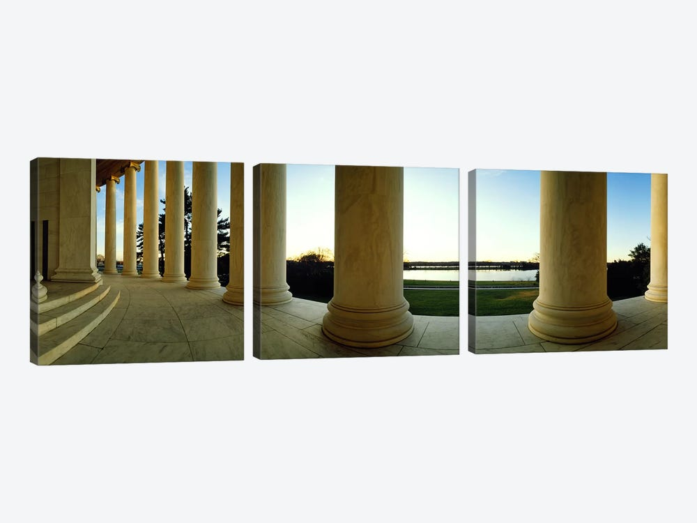 Jefferson Memorial Washington DC by Panoramic Images 3-piece Canvas Artwork