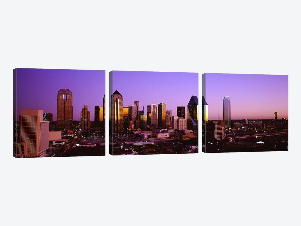 DallasTexas, USA by Panoramic Images 3-piece Canvas Art Print