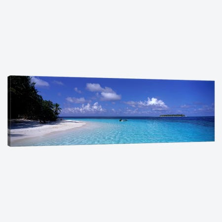 Tropical Beach Ihru Maldives Canvas Print #PIM4004} by Panoramic Images Canvas Wall Art