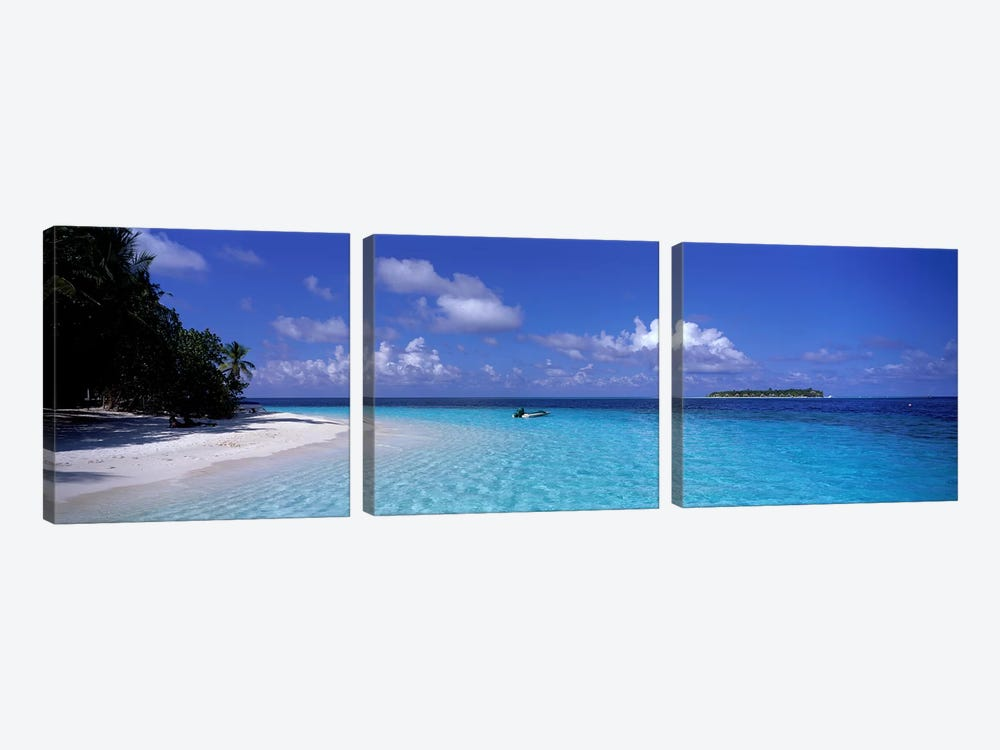 Tropical Beach Ihru Maldives by Panoramic Images 3-piece Canvas Artwork