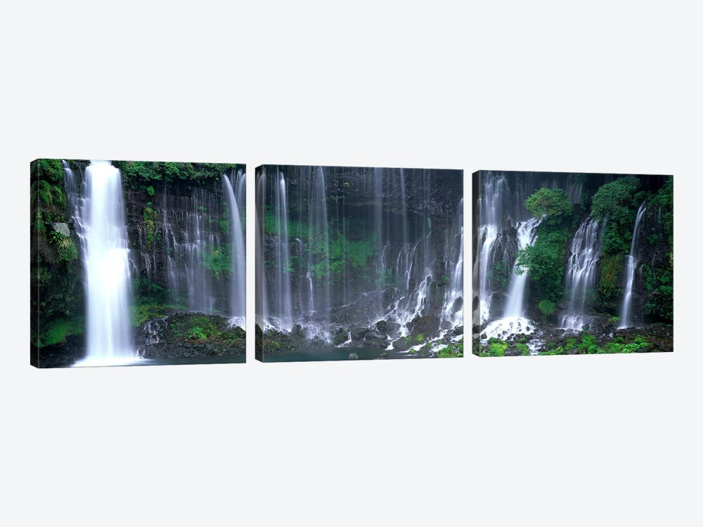 Shiraito Falls, Fujinomiya, Shizuoka, Japan by Panoramic Images 3-piece Canvas Art