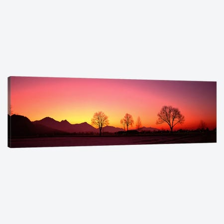 EveningSchwangau, Germany Canvas Print #PIM4007} by Panoramic Images Canvas Art