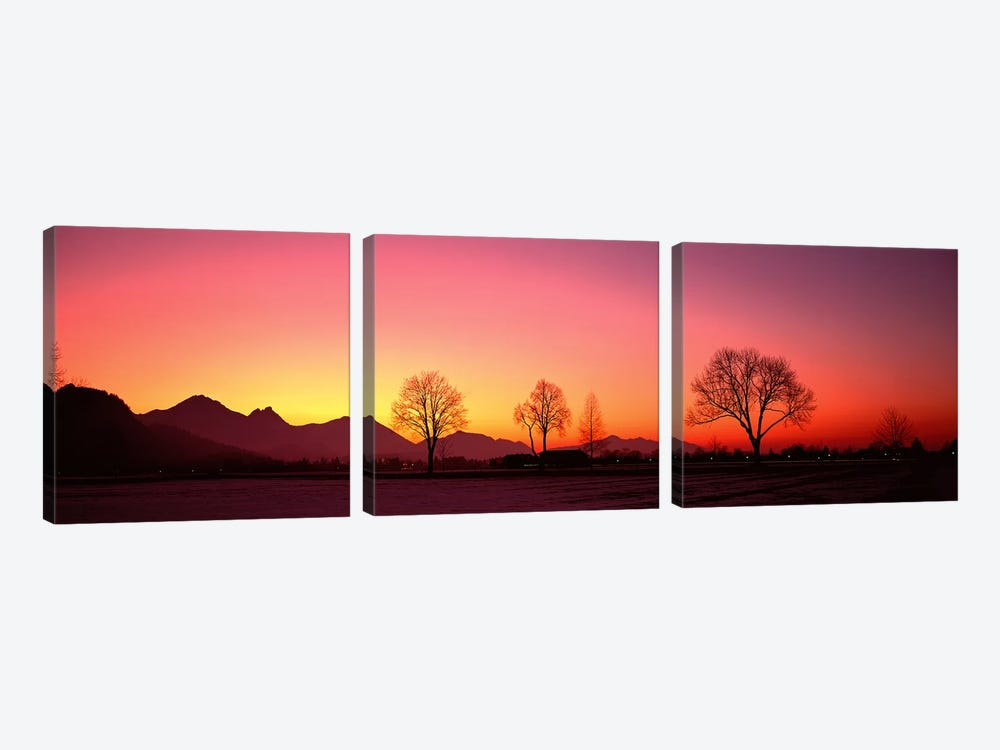 EveningSchwangau, Germany by Panoramic Images 3-piece Art Print