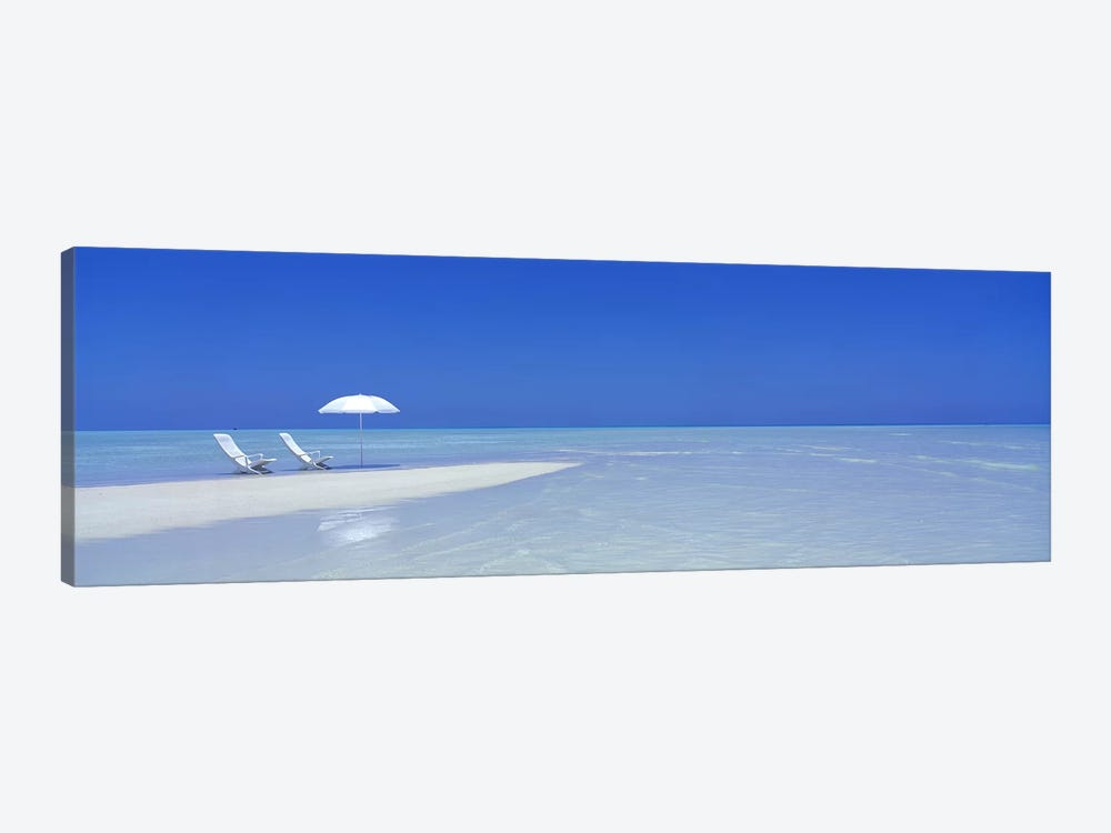 Serene Beach Scene, Maldives by Panoramic Images 1-piece Canvas Wall Art