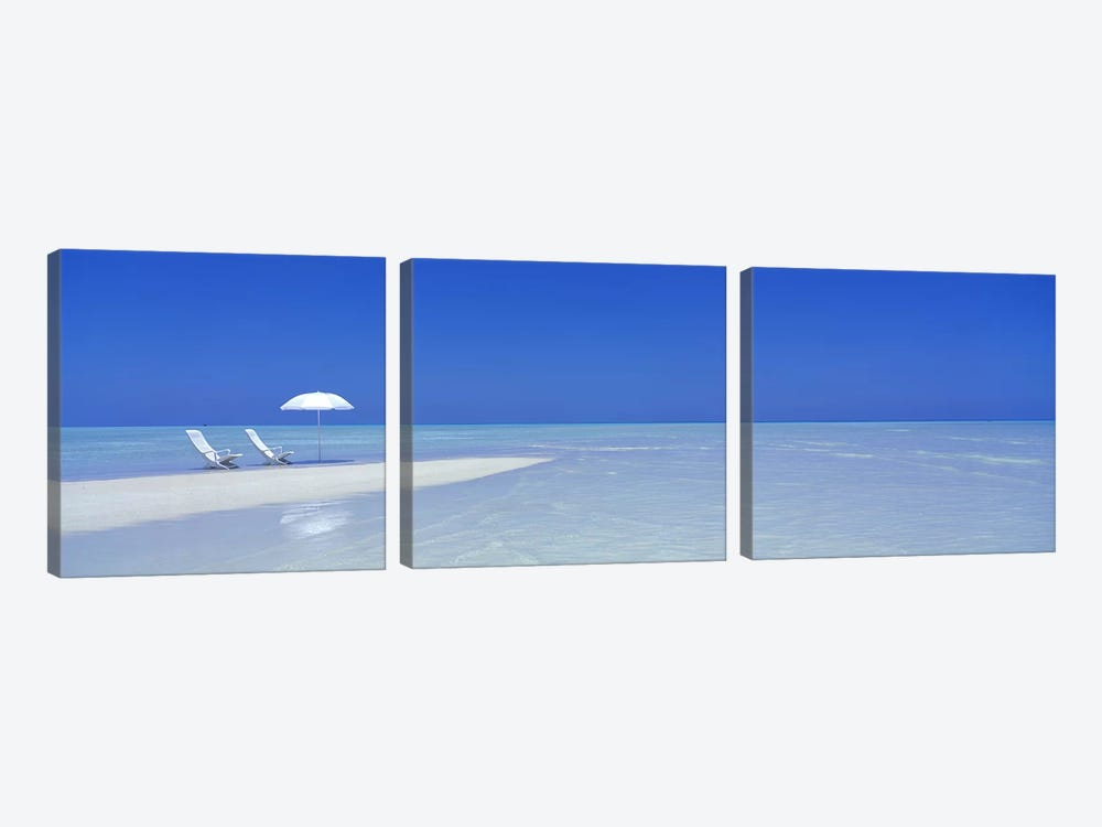 Serene Beach Scene, Maldives by Panoramic Images 3-piece Canvas Art