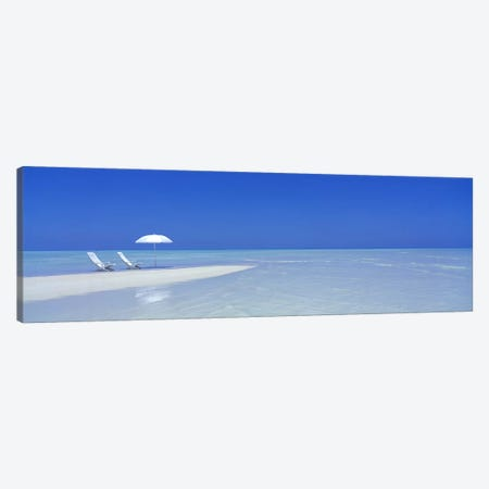 Serene Beach Scene, Maldives Canvas Print #PIM4008} by Panoramic Images Canvas Print