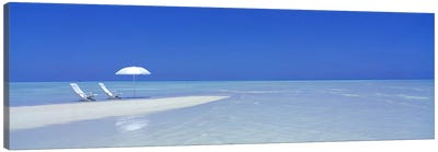 Serene Beach Scene, Maldives Canvas Art Print