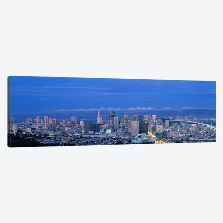 San Francisco cityscape Upper Market California Canvas Print #PIM400} by Panoramic Images Canvas Artwork