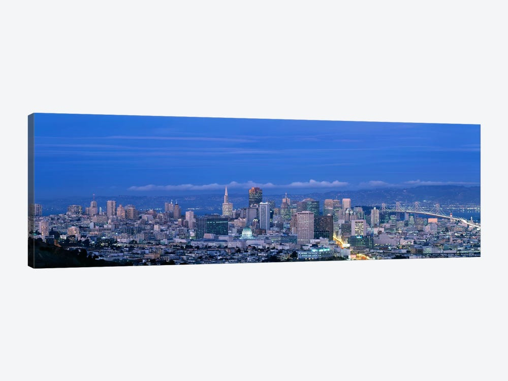 San Francisco cityscape Upper Market California 1-piece Canvas Print