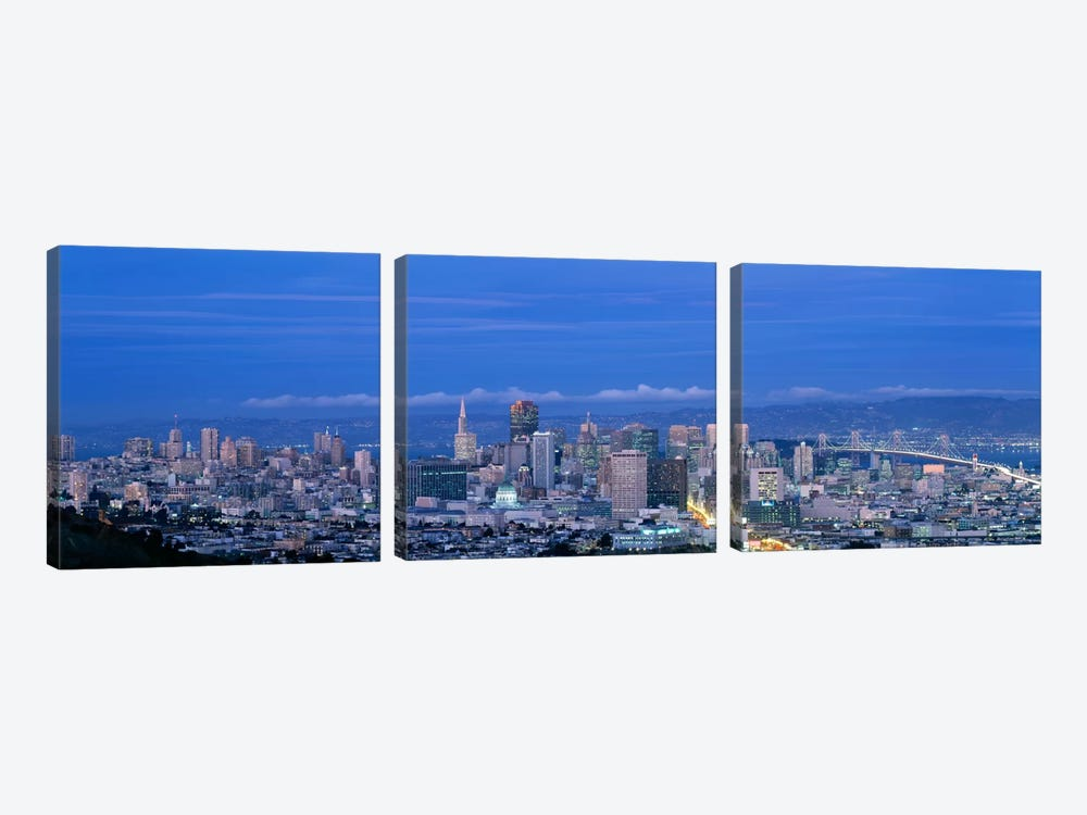 San Francisco cityscape Upper Market California by Panoramic Images 3-piece Art Print