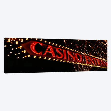 Low angle view of neon signLas Vegas, Nevada, USA Canvas Print #PIM4012} by Panoramic Images Canvas Art
