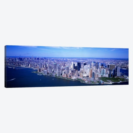 AerialLower Manhattan, NYC, New York City, New York State, USA Canvas Print #PIM4015} by Panoramic Images Canvas Print