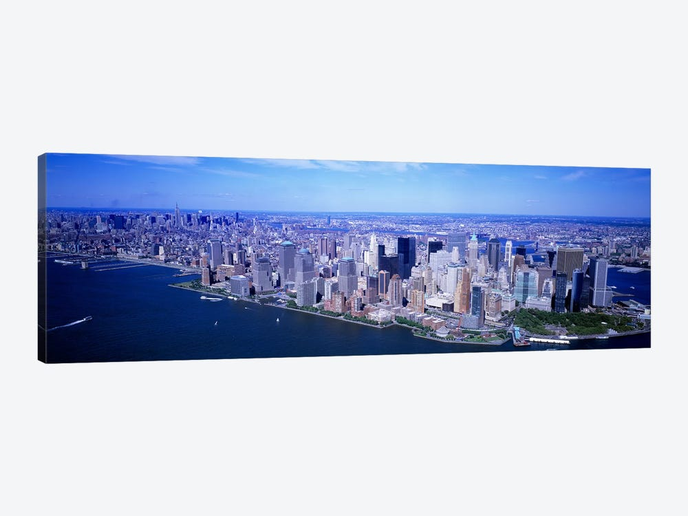 AerialLower Manhattan, NYC, New York City, New York State, USA by Panoramic Images 1-piece Canvas Wall Art