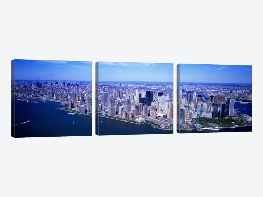 AerialLower Manhattan, NYC, New York City, New York State, USA by Panoramic Images 3-piece Canvas Art