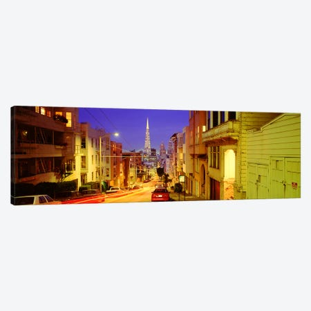 Evening In San FranciscoSan Francisco, California, USA Canvas Print #PIM4017} by Panoramic Images Canvas Print