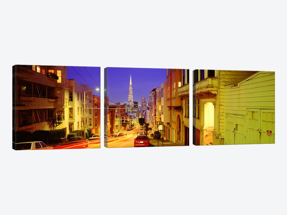 Evening In San FranciscoSan Francisco, California, USA by Panoramic Images 3-piece Canvas Art