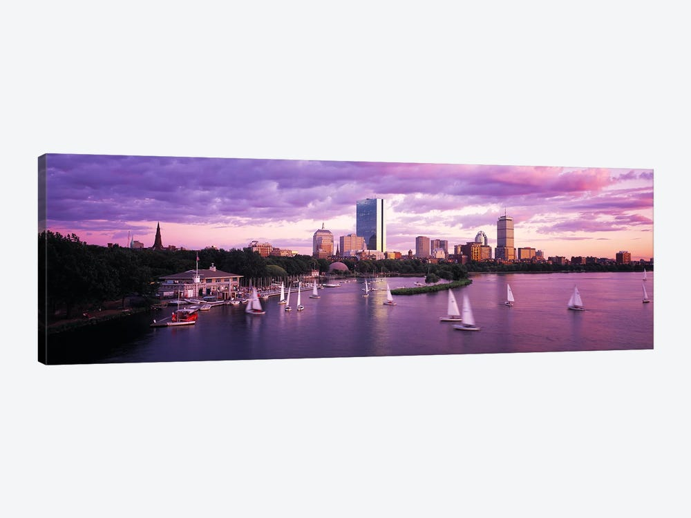 Dusk Boston MA 1-piece Canvas Art