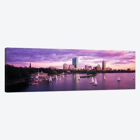 Dusk Boston MA Canvas Print #PIM4019} by Panoramic Images Canvas Artwork