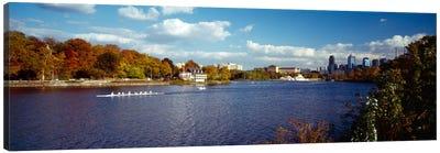 Boat in the riverSchuylkill River, Philadelphia, Pennsylvania, USA Canvas Print #PIM401