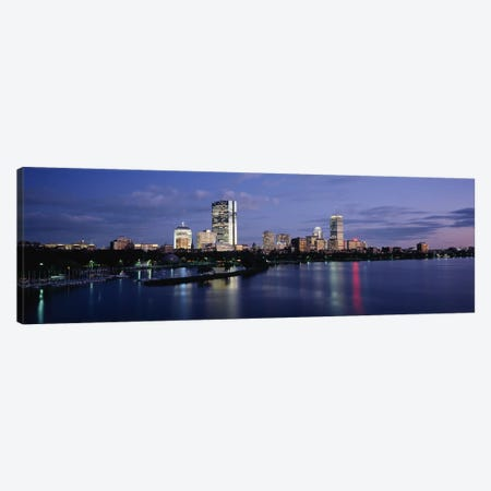 Buildings on The waterfront, At DuskBoston, Massachusetts, USA Canvas Print #PIM4020} by Panoramic Images Canvas Print