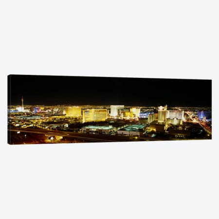 High Angle View of Buildings Lit Up At NightLas Vegas, Nevada, USA Canvas Print #PIM4021} by Panoramic Images Canvas Print
