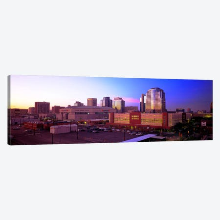 Dusk Phoenix AZ Canvas Print #PIM4023} by Panoramic Images Art Print
