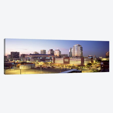 Skyline At Dusk, Phoenix, Arizona, USA Canvas Print #PIM4024} by Panoramic Images Canvas Art