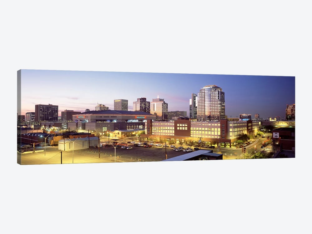 Skyline At Dusk, Phoenix, Arizona, USA by Panoramic Images 1-piece Canvas Art