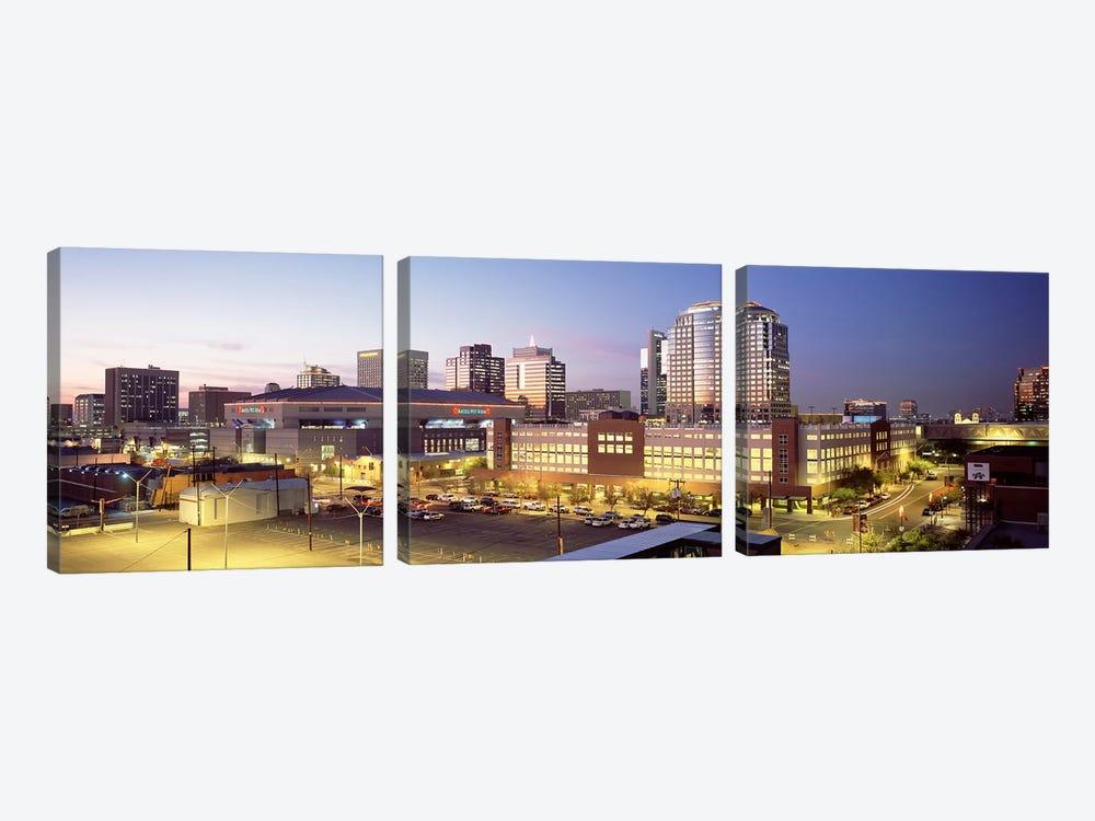 Skyline At Dusk, Phoenix, Arizona, USA by Panoramic Images 3-piece Canvas Artwork