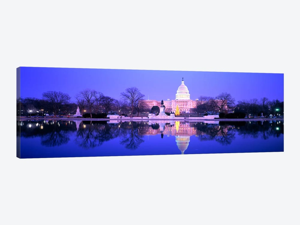 ChristmasUS Capitol, Washington DC, District of Columbia, USA by Panoramic Images 1-piece Canvas Art Print