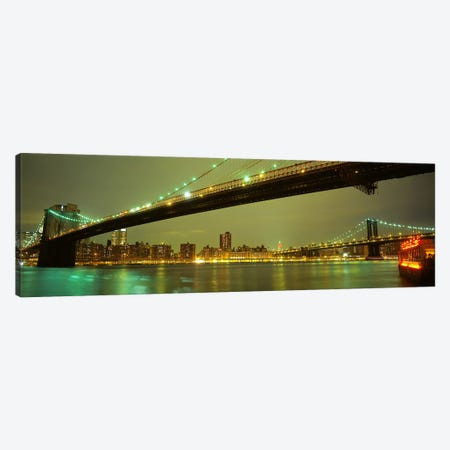Brooklyn Bridge & Manhattan Bridge, New York City, New York, USA Canvas Print #PIM4028} by Panoramic Images Art Print