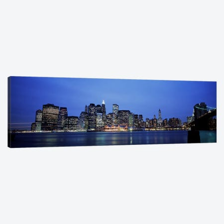 Buildings at the waterfront, Manhattan, New York City, New York State, USA Canvas Print #PIM4029} by Panoramic Images Canvas Art Print