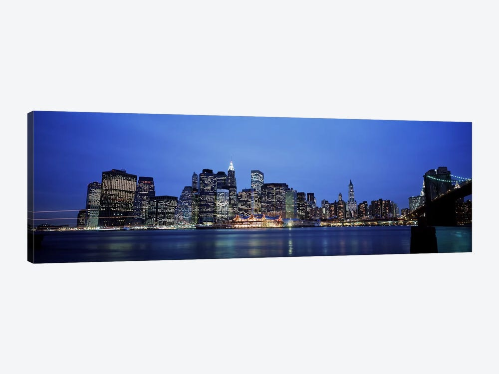 Buildings at the waterfront, Manhattan, New York City, New York State, USA by Panoramic Images 1-piece Canvas Print