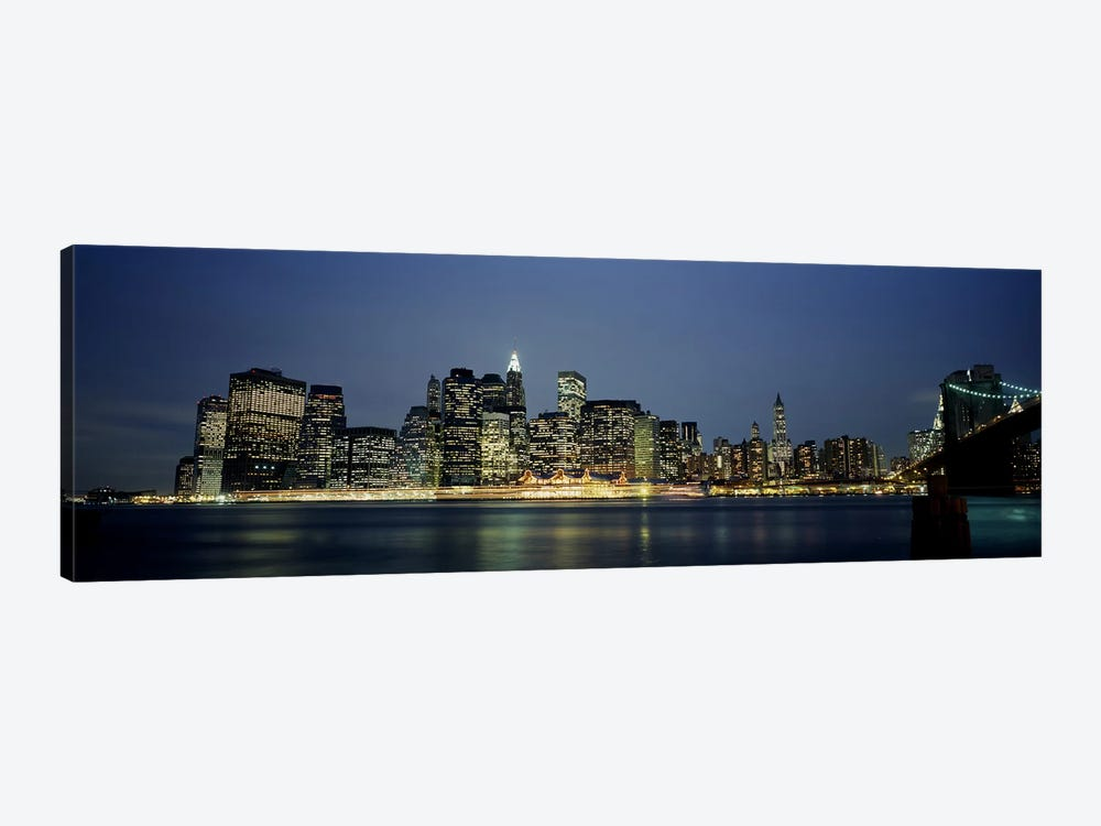 Buildings on The waterfront, NYC, New York City, New York State, USA by Panoramic Images 1-piece Canvas Print
