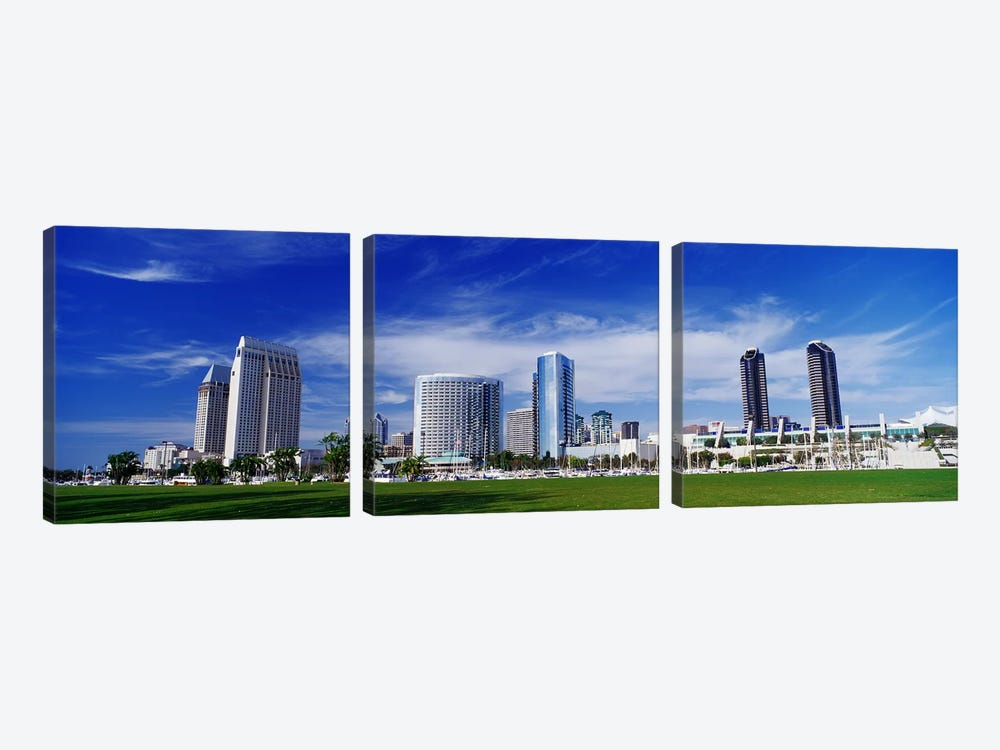 San Diego, California, USA by Panoramic Images 3-piece Canvas Wall Art