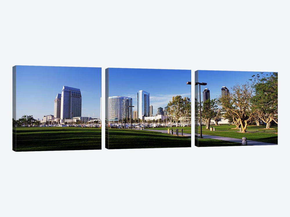 USA, California, San Diego, Marina Park by Panoramic Images 3-piece Art Print