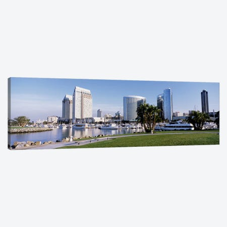Panoramic View Of Marina Park And City Skyline, San Diego, California, USA Canvas Print #PIM4038} by Panoramic Images Canvas Artwork